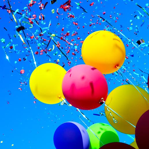 ballonnen, confetti